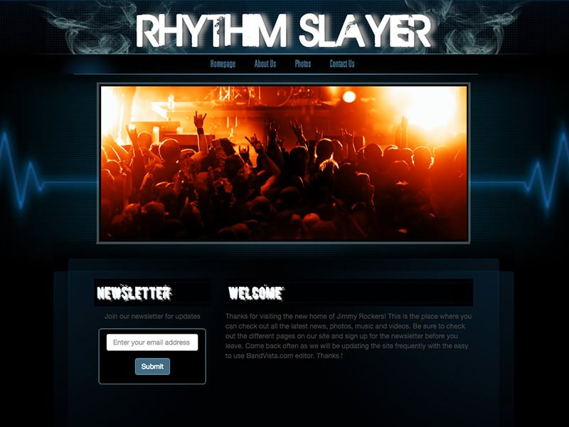 Musician Website Templates